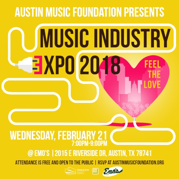 AUSTIN MUSIC FOUNDATION PRESENTS: FEEL THE LOVE EXPO