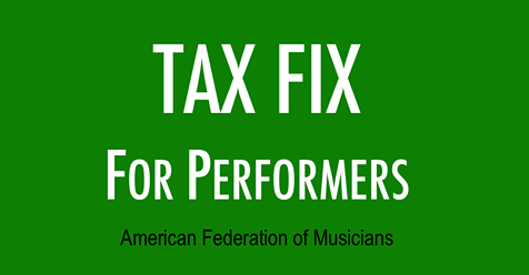 AFM Applauds Proposed Tax Fix For Musicians