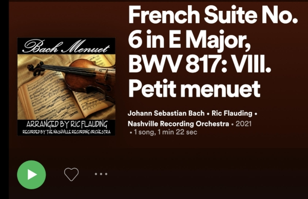 Menuet Recording Released