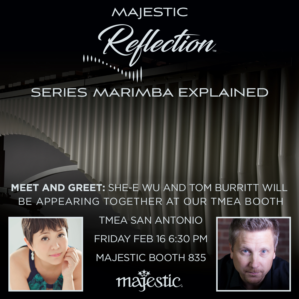Come meet the new Reflection Series Marimba at TMEA 2018