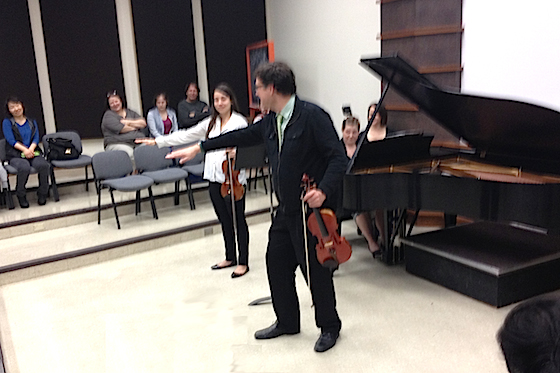 Menuhin Competition 2014: Jurors Brian Lewis, Ilya Gringolts and Olivier Charlier Give Master Classes